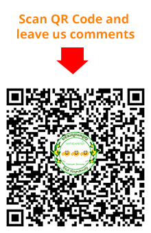 Scan QR code and leave us your comments